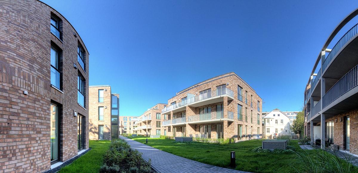 Panorama - Neubauten Quartier Amalie in Oldenburg - Fotograf Lukas Lehmann